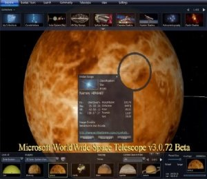 Microsoft WorldWide Space Telescope v3.0.72 Beta