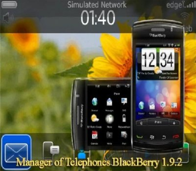 Manager of Telephones BlackBerry 1.9.2