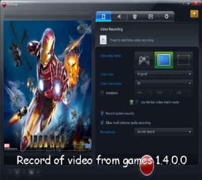 Record of video from games 1.4.0.0