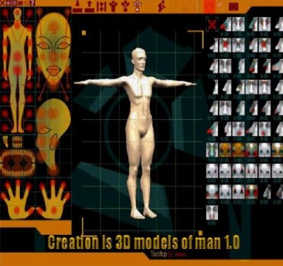 Creation is 3D models of man 1.0